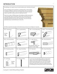 Moulding Stack - Canyon Creek Cabinet Company
