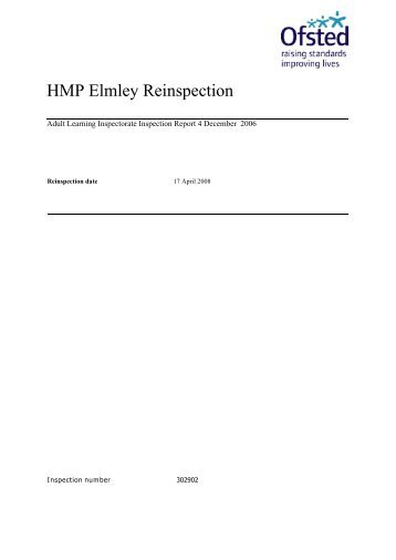 HMP Elmley Reinspection - Inside Time