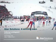 A winning team - Aker Solutions