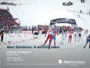 A winning team - Aker Solutions