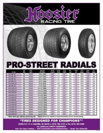 Pro Street Flyer - Hoosier Racing Tire