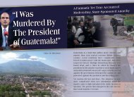 """""""I Was Murdered By The President of Guatemala!"""" - ZMAN Magazine"""