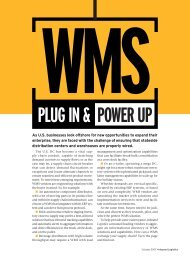 Plug In & Power uP - Inbound Logistics