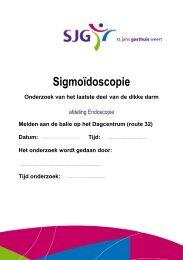 Sigmoïdoscopie - SJG Weert