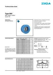 Technical data sheet Type 895 - SOCLA