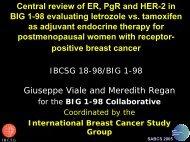 BIG 1-98 A study to evaluate Letrozole as adjuvant ... - IBCSG