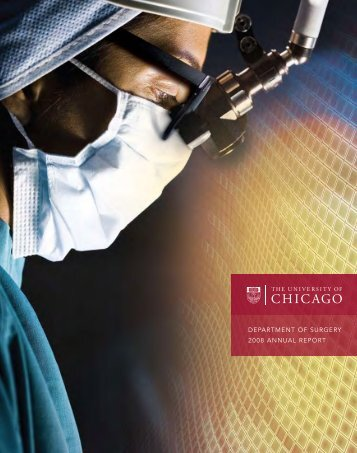 DEPARTMENT OF SURGERY 2008 ANNUAL REPORT - The ...