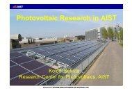 Photovoltaic Research in AIST - Derbi