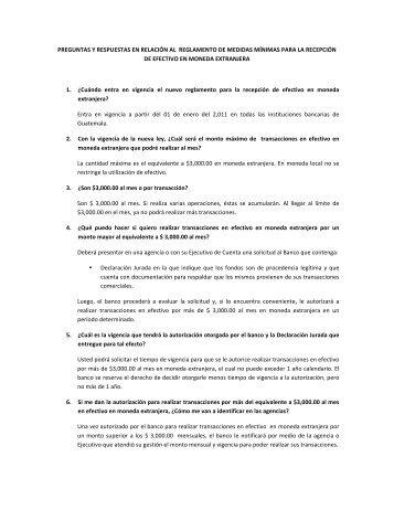preguntas y respuestas en relación al reglamento de medidas ...