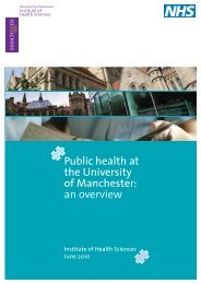 Public health at the University of Manchester: an overview