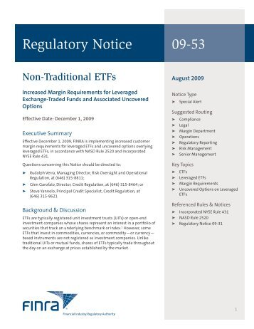Regulatory Notice 09-53 - finra
