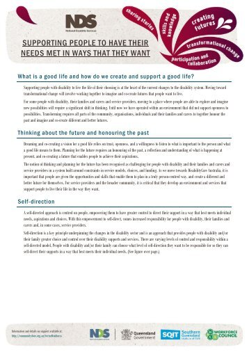 Supporting people to have their needs met (PDF) - Community Door
