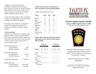 COLLEGE CAMPUS SECURITY REPORT - Darton College