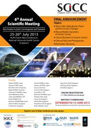 6th Annual Scientific Meeting