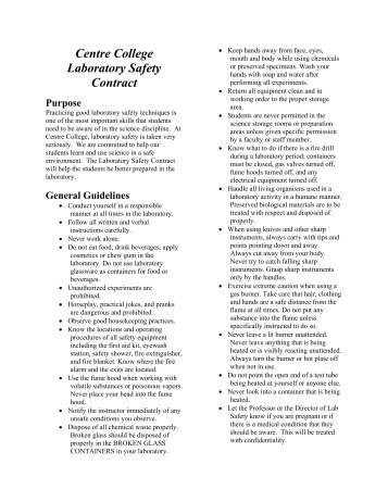lab safety contract