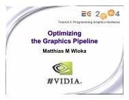 Optimizing the Graphics Pipeline - NVIDIA Developer Zone