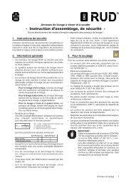 Instruction d'assemblage, de sécurité - RUD