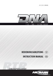 BEDIENUNGSANLEITUNG D INSTRUCTION MANUAL GB - Ansmann