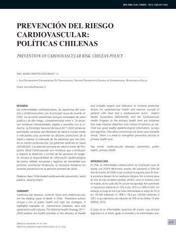 prevención del riesgo cardiovascular: políticas chilenas