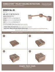 BENCH No. 05 - Pavestone