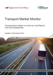 Transport Market Monitor - Capgemini Deutschland