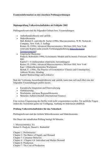 Examens - Seminar für Internationale Wirtschaftsbeziehungen