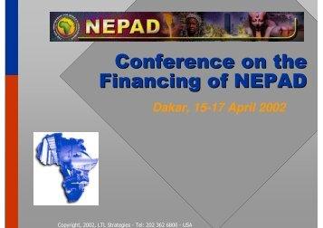 NEPAD Promotion - Dakar - SubSahara Centre