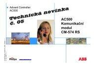 05/2009 - Nový komunikační modul CM574 - VAE ProSys sro
