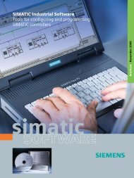 SIMATIC Industral Software - Tools for configuring and programming ...