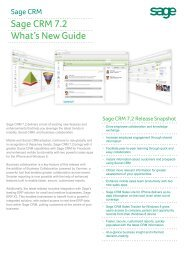 Sage CRM 7.2 What's New Guide - Sage ERP