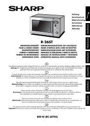 R-26ST Operation-Manual GB - Sharp