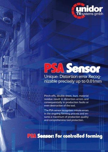 PSA Sensor: For controlled forming - Unidor