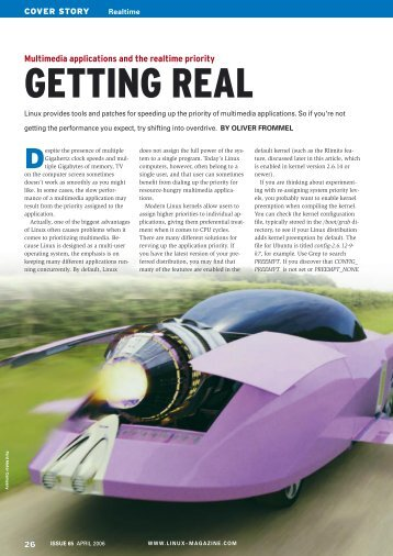 GETTING REAL - Linux Magazine