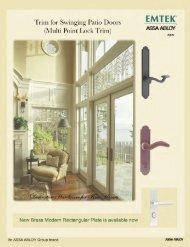 Trim for Swinging Patio Doors (Multi Point Lock Trim)
