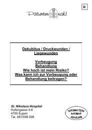 Dekubitus / Druckwunden / Liegewunden Vorbeugung Behandlung ...