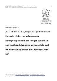 Unterrichtsmaterial der Stiftung Adam von Trott Imshausen e.V.