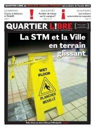 La STM et la Ville en terrain glissant - Quartier Libre