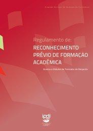 reconhecimento prévio de formação académica - Instituto do ...