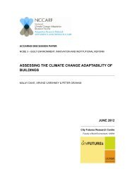 assessing the climate change adaptability of buildings - National ...