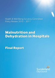 Malnutrition and Dehydration in Hospitals - Sunderland City Council