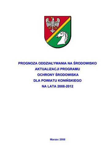 Prognoza oddziaływania na środowisko projektu ... - Powiat koniński
