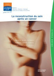 La reconstruction du sein après un cancer - Ligue contre le cancer