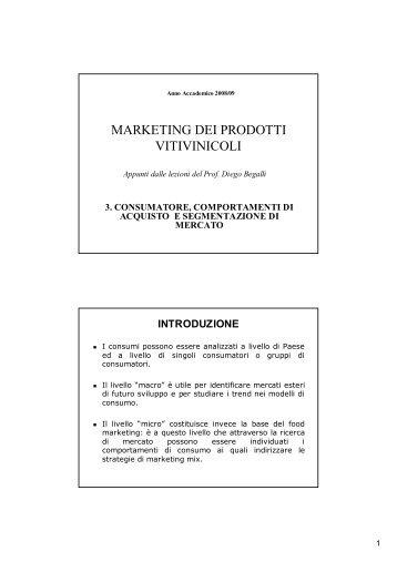 3. consumatori e comportamento di acquisto