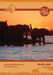 Team Safaris 2013 - Kambaku Safari Lodge in Namibia