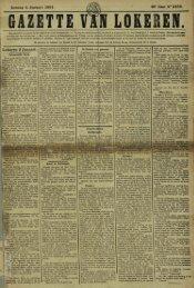 Zondag 4 Januari 1891. 48» Jaar N° 2469. Lokeren 3 Januari.