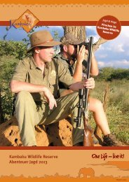 Abenteuer Jagd 2013 - Kambaku Safari Lodge in Namibia