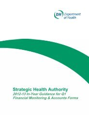 SHA 2012-13 In-Year Guidance for Q1 Financial Monitoring and ...