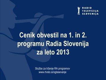 Radijska obvestila 2013 - RTV Slovenija