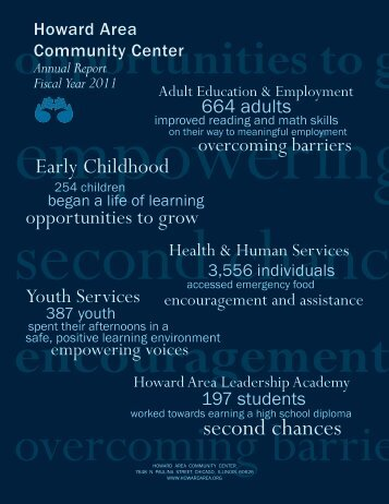 Download 2011 Annual Report - Howard Area Community Center