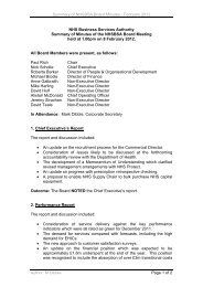 Summary of Minutes of the meeting held on 8 February 2012